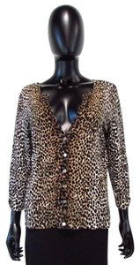 White House | Black Market Whbm Leopard Cardigan