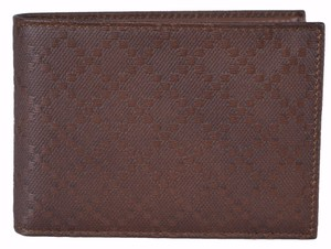 Gucci Gucci Men's 292534 Brown Soft Leather W/Coin Large Bifold Wallet