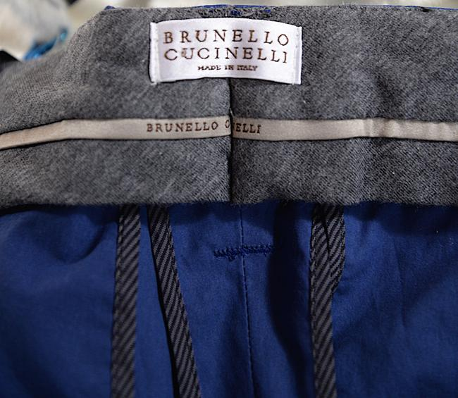 Bruno Cucinelli Straight Pants Blue Image 1