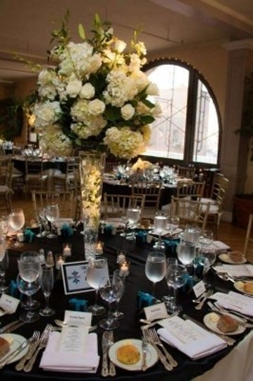 Your Chair Covers Black Satin Overlays Tablecloth