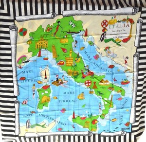 Moschino Moschino Cheap and Chic Map Of Italy Scarf