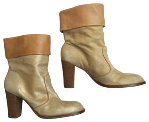 Kenneth Cole Metallic Cuffed Leather Boots