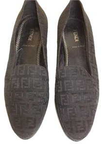 Fendi Black Logi Flats