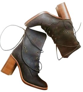Jeffrey Campbell Leather Lace Up Brown Boots