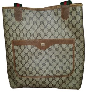 Gucci Tote in Brown, red, green