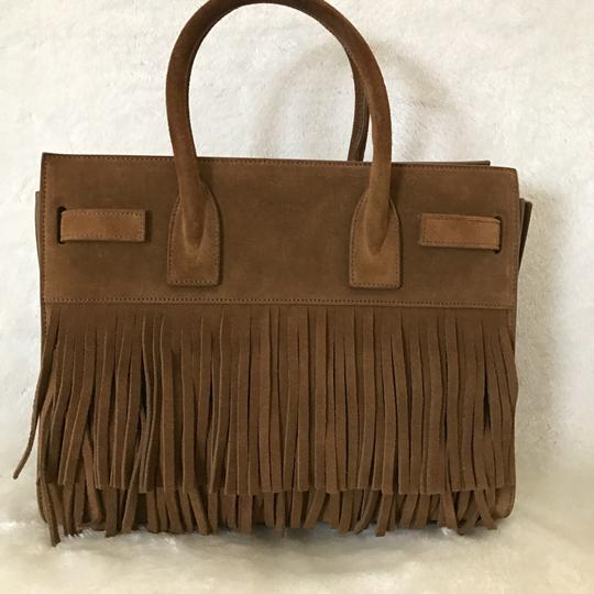 Saint Laurent Brown Suede Sac De Jour Satchel Tradesy