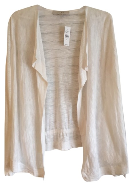 Preload https://item5.tradesy.com/images/ann-taylor-loft-white-cardigan-size-10-m-2008699-0-0.jpg?width=400&height=650