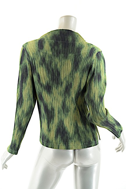Issey Miyake Top Green-Multi Color Image 4