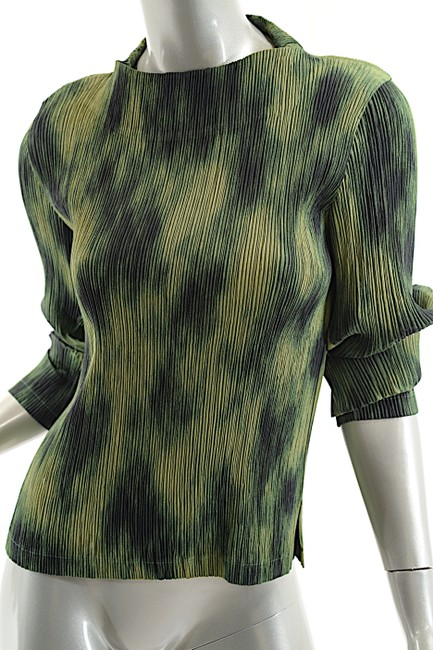 Issey Miyake Top Green-Multi Color Image 5