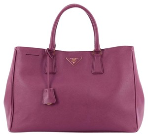 Prada Leather Tote in Violet