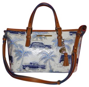 Brahmin Asher Mini Leather Copa Cabana Satchel in Blue