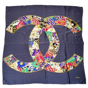 Chanel Chanel Signature Big Jumbo XL CC Monogram Logo Silk Scarf Made Italy