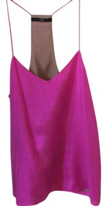 Tibi Silk Cami Pink Top