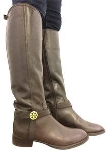 Tory Burch Riding Boot Leather Boot Coconut Brown Boots