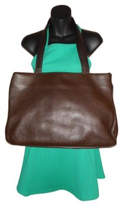 Muska Leather Italian Tote in Brown
