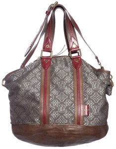 Louis Vuitton Satchel in Gray & Red