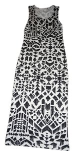 White/black Maxi Dress by Lush White Black Drerss Long