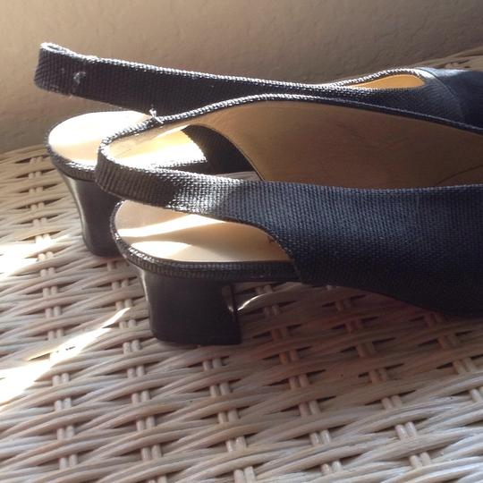Bottecelli Italy. Charcoal gray with black. Pumps Image 1