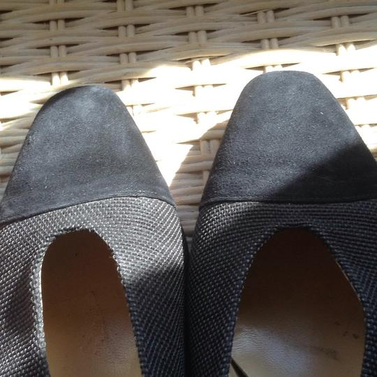 Bottecelli Italy. Charcoal gray with black. Pumps Image 9