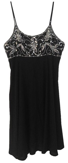 Preload https://img-static.tradesy.com/item/20087610/black-with-beads-super-cute-sequin-and-beaded-mid-length-cocktail-dress-size-10-m-0-1-650-650.jpg