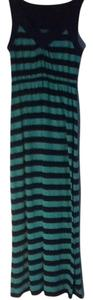 dark blue and mint green stripes Maxi Dress by Faded Glory