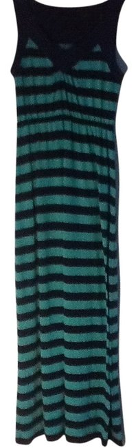 Preload https://item3.tradesy.com/images/faded-glory-dark-blue-and-mint-green-stripes-casual-maxi-dress-size-6-s-200877-0-0.jpg?width=400&height=650