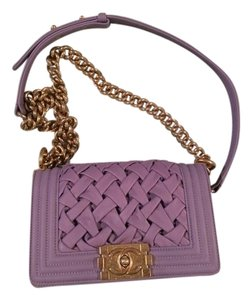 Chanel Boy Purple Chateau Shoulder Bag