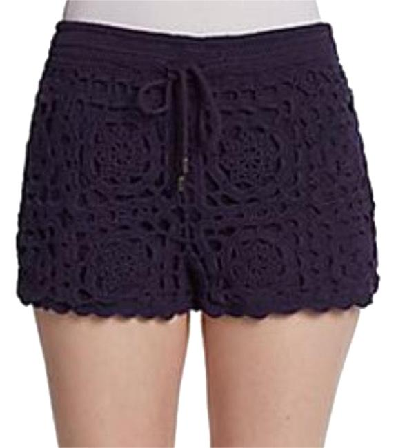 Item - Violet Blue Crochet Large Lined Drawstring Waist Shorts Size 12 (L, 32, 33)