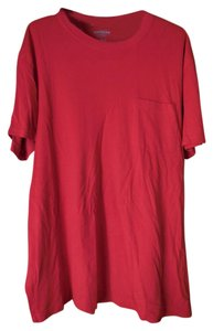 Express Cotton Short Sleeves Crew Neck Pocket T Shirt Red