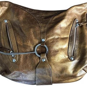 Sherry Wolf Metallic Hobo Bag