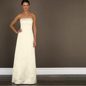J.Crew Ivory Silk Vivian 65597 Traditional Wedding Dress Size 0 (XS)