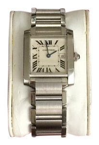 Cartier Cartier Midsize Stainless Steel Tank Francaise Watch