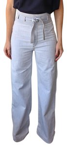Warm Denim High Waist Flare Leg Jeans-Light Wash