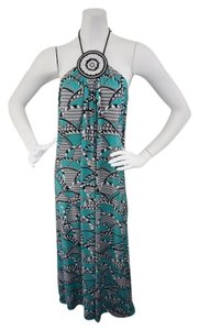 Green & Black Maxi Dress by T-Bags Los Angeles Maxi Beaded Accent