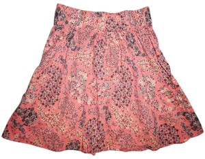 H&M A Line Flowers Elastic Waist Skirt Coral Pink, Pale Blue, Ivory, Beige