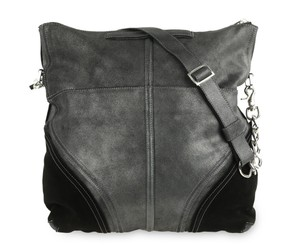 Botkier Leather Metallic Hobo Bag