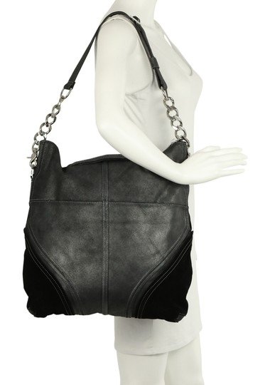 Botkier Leather Metallic Hobo Bag Image 10