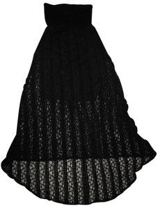 Xhilaration Strapless Dress Lined Lace Skirt Black