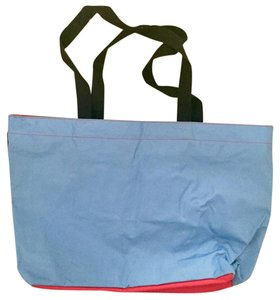 Herve Chapelier Nylon Two-tone Tote in Blue Red