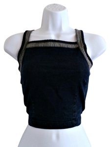 Carolina Blues Vintage 90s 1990s Grunge Bustier Top Blue