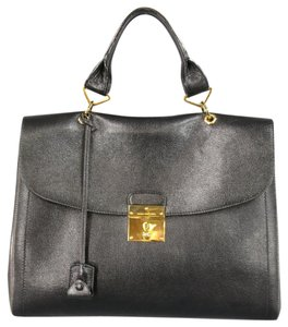 Marc Jacobs Leather Gold Hardware Italian Satchel in Black
