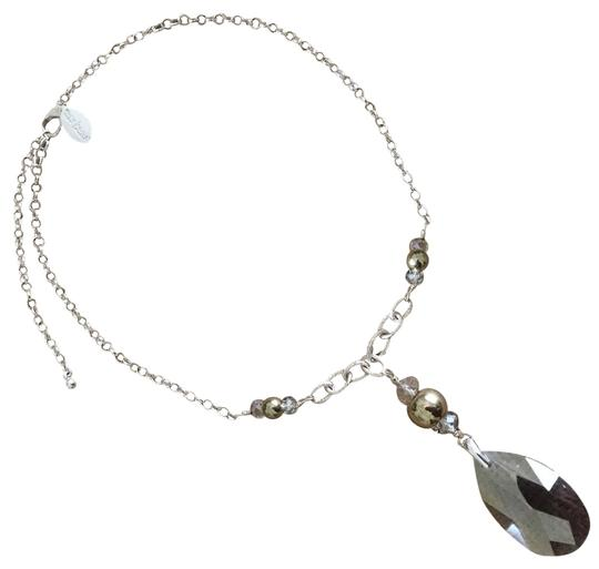 White House | Black Market NWT Simulated Quartz Pendant with Silver Tone Chain Image 2