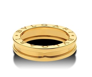 BVLGARI Bulgaria B.Zero 1 Band Yellow Gold Ring Size:61 UK 9.75