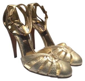 Ralph Lauren Collection Platino Silver/Gold Irreadesant Pumps
