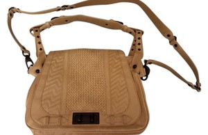 Rebecca Minkoff Leather Quilted Detail Spring Shoulder Bag