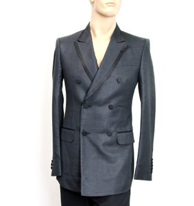 Gucci Charcoal New Silk Double Breasted Jacket Blazer Eu 46/ Us 36 293038 Groomsman Gift