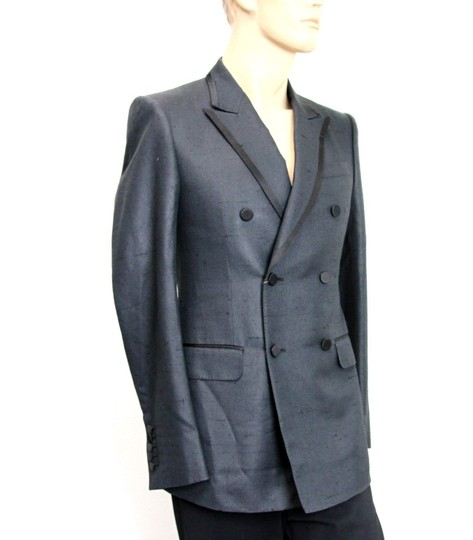 Gucci Charcoal New Silk Double Breasted Jacket Blazer Eu 46/ Us 36 293038 Groomsman Gift Image 1