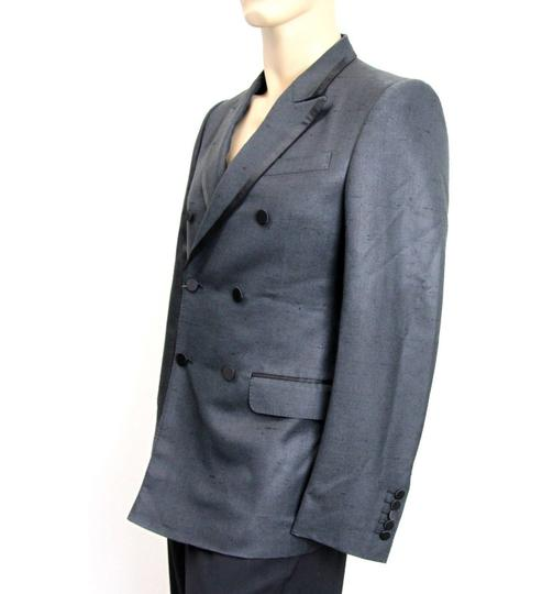 Gucci Charcoal New Silk Double Breasted Jacket Blazer Eu 46/ Us 36 293038 Groomsman Gift Image 2