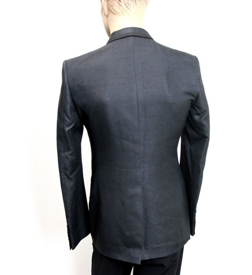 Gucci Charcoal New Silk Double Breasted Jacket Blazer Eu 46/ Us 36 293038 Groomsman Gift Image 3