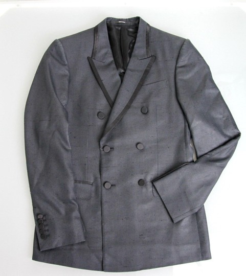 Gucci Charcoal New Silk Double Breasted Jacket Blazer Eu 46/ Us 36 293038 Groomsman Gift Image 4